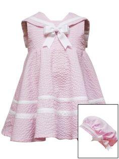 Rare Editions Baby-girls Newborn Seersucker Nautical Dress