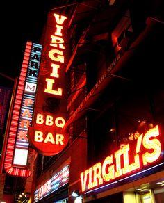 Virgil's BBQ ..NYC  best burnt end sandwich and BBQ nachos!!! yummy
