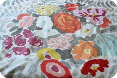 My favorite fabric for my nursery that of course I can't find anywhere... Sigh