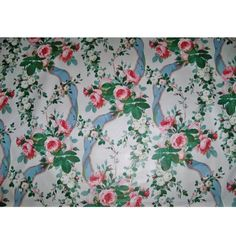 Floral Upholstery Fabric, Chintz Fabric, Cotton Fabric, Floral Fabric, Pink Blue, Blue And White, Lee Jofa, Red Tree, Fabric Remnants