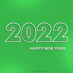Free Happy New Year 2022 Green Background
