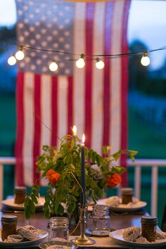 a daily something: Gatherings | Memorial Day Tabletop and Floral DIY