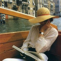 - French actress Fanny Ardant, photographed for French Vogue in Best Vacation Destinations, Best Vacations, French Actress, New Trends, Outfit, Panama Hat, Cowboy Hats, Fashion Photography, Vintage Fashion