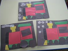 Earlier this week, I read The Polar Express to both my 3 year old class and my 4 year old class. Afterwards, we made these Polar Express t. Polar Express Crafts, Polar Express Activities, Polar Express Theme, Polar Express Train, Toddler Activities, Toddler Crafts, Book Activities, Preschool Christmas, Christmas Activities