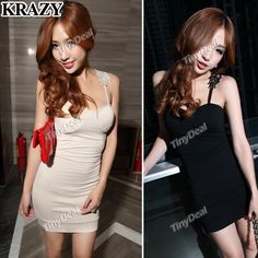0a32782a8bb (KRAZY) Solid Color One-piece Dress Braces Skirt with Flower Decor for Woman
