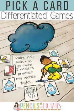 Pick a Card games are my students' favorite way to practice letter recognition and sounds, number recognition, rhyming words, CVC