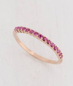 Items similar to Womens Ruby Wedding Band, Rose Gold Eternity Wedding Band, Dainty Wedding Band, Delicate Wedding Band, Minimalist Wedding Band on Etsy Ruby Eternity Ring, Eternity Bands, Ruby Wedding Rings, Wedding Bands, Sapphire Gemstone, Pink Sapphire, Band Rings, Rose Gold, Gemstones