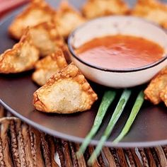 Serve these little fried appetizer wontons on a buffet at a party.