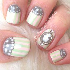 Fancy Sillouhuette nail art @thenailomon