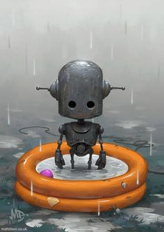 Lonely Robots Experiencing The Quiet Wonder Of The World (New Illustrations) | Bored Panda