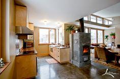 Shea Residence and Tulikivi masonry heater