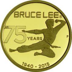 25 Dollar Gold 75. Geburtstag von Bruce Lee PP