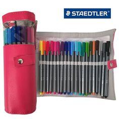 Staedtler Triplus Fineliner 334 PC20 Color Ink Pen 0.3mm Pencil Case Pink #Staedtler