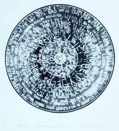 """KATRIN SÜSS . """"strawberry fields forever"""" . Kaltnadelradierung auf Vinyl, darstellung 29,5 x 29,5 cm"""