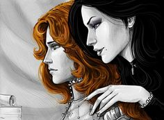 Triss and Yennefer by Anastasia Kulakovskaya (Witcher)