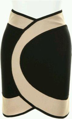 Hervé Leroux skirt with binding as finish?