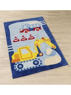 Awesome benuta Teppiche Kinderzimmer Kinderteppich Baustelle Multicolor x cm Oeko Tex Standard