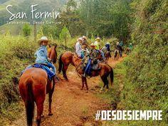 La aventura está en nuestras venas #DesdeSiempre #Caballistas #Colombia #Aventura #SillasSanFermin