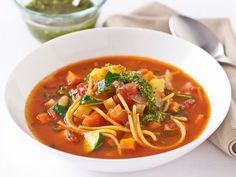 Super Food Ideas food editor Kim Coverdale shows you how to make this tasty winter warmer. Veggie Recipes, Real Food Recipes, Vegetarian Recipes, Cooking Recipes, Healthy Recipes, Quinoa Pasta, Pasta Soup, Veggie Pasta, Veggie Food