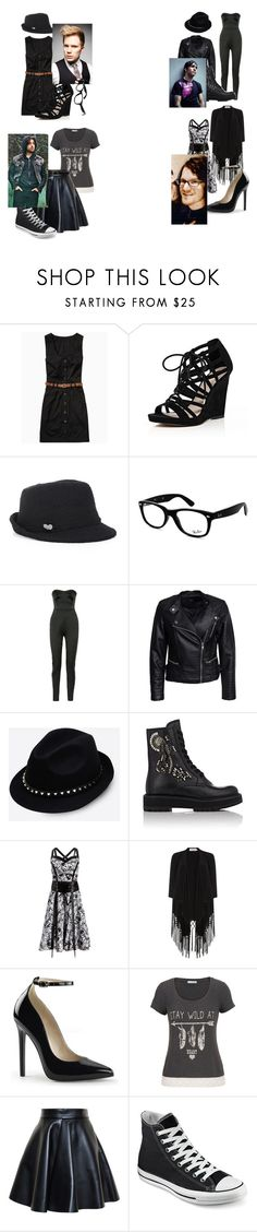 """""""The Dates of FOB"""" by geekeriane ❤ liked on Polyvore featuring River Island, BCBGeneration, Ray-Ban, Antonio Berardi, Sisters Point, Valentino, Prada, Soaked in Luxury, maurices and MSGM"""