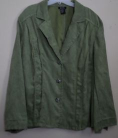 Gorgeous blouse jacket. Pretty spring green. Soft suede-like material. Plus Size 22/24 3x  #ThePlusSide
