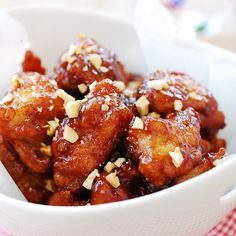 Dakgangjeong - A popular Korean chicken dish that's crispy, tender, sweet, tangy, and spicy all in one bite!