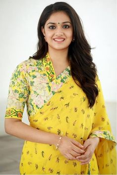 Keerthy Suresh in yellow saree photos at Nadigaiyar Thilagam Promotions. South Indian Actress Keerthy Suresh in saree photos. Actress Keerthi Suresh latest photos in saree. Beautiful Girl Indian, Most Beautiful Indian Actress, Beautiful Ladies, Beauty Full Girl, Beauty Women, Fashion Week, Fashion Outfits, Women's Fashion, Indian Bridal Sarees