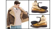 Shearling: trend moda uomo AI14-15 Giacca Acne Polacchino Franceschetti