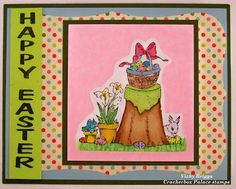 Crackerbox Palace rubber stamp Blog: Easter Card