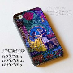 beauty and the beast nebula stained glass  iPhone case