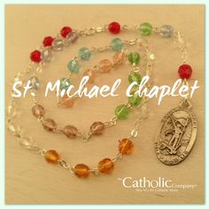 Michael the Archangel Chaplet. Mom Prayers, Angel Prayers, Catholic Prayers, Rosary Beads, Prayer Beads, Chaplet Of St Michael, Catholic Company, Faith Church, Bible Crafts For Kids