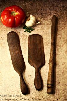 Set de cuisine ustensile Gift Set, Spurtles en bois, de 3 Chefs ustensiles, divers bois disponibles