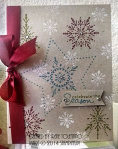 Many Merry Stars and Endless wishes stamp sets Cute Christmas Cards, Christmas Card Crafts, Handmade Christmas, Holiday Cards, Stampin Up Many Merry Stars, Snowflake Cards, Snowflakes, Endless Wishes, Star Cards