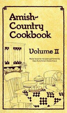 I have this book and Volume 1 also. I love Amish recipes! Retro Recipes, Old Recipes, Vintage Recipes, Cookbook Recipes, Cooking Recipes, Pennsylvania Dutch Recipes, Amish Books, Vintage Cookbooks, Vintage Books
