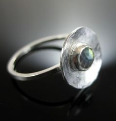 labradorite ring handmade in sterling silver