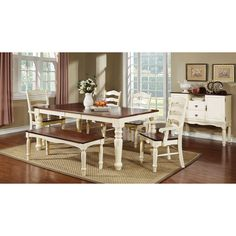 Furniture of America Palister 6-piece Country Style Dining Set - Overstock™ Shopping - Big Discounts on Furniture of America Dining Sets