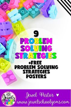9 Problem Solving Strategies (Plus Free Problem Solving Strategies Posters) by Jewel Pastor of Jewel's School Gems | Read about 9 problem solving strategies to help your kids become more proficient in solving word problems plus grab FREE problem solving s