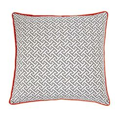 would love to accent a pillow with red like this one