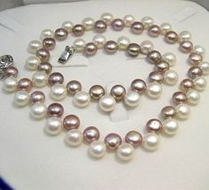 XaXe.com - SINGLE PURPLE WHITE GENUINE CULTURED PEARL Necklace