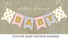 Shabby Chic Baby Shower Decor - Shabby Chic Baby Shower Banner - Rustic Baby Shower - Girl Tea Party Baby Shower Decor  (EB3062) by ModParty on Etsy https://www.etsy.com/listing/204056567/shabby-chic-baby-shower-decor-shabby