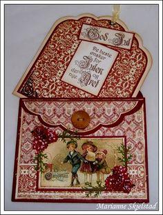 Vintage Pocket Tag Card envie style by Marianne