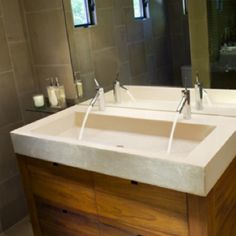 Find This Pin And More On Bathrooms Aaron Double Trough Sink