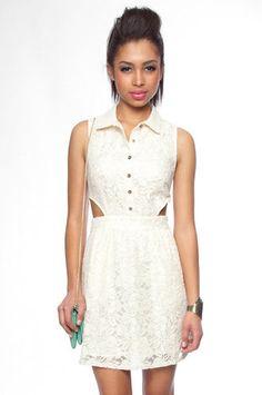 Love this. Daria Lace Cut Out Dress in Cream www.tobi.com