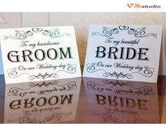 Printable Wedding Card to Groom and Bride   Printable by VSstudio