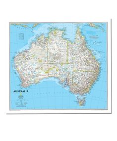 Australia Classic Laminated Map