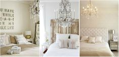 2-bright bedroom with a beautiful chandelier