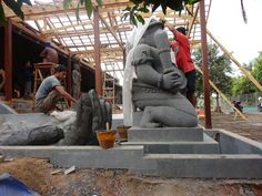 Proses pembuatan patung ,#sclupture