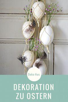 DIY zu Ostern Basteln mit Kindern Dekoration Ideen zu Ostern Eier als Vase