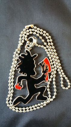 icp HATCHET MAN CHARM black & red psychopathic records insane clown posse