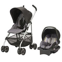 The Evenflo RoundTrip Travel System pairs a durable and lightweight umbrella stroller with the LiteMax Infant Car Seat. This versatile and compact travel system offers 3 modes of use: parent- or forward-facing stroller and infant car seat carrier. Best Baby Prams, Best Baby Strollers, Double Strollers, Cheap Strollers, Best Lightweight Stroller, Best Double Stroller, Jogging Stroller, Toddler Stroller, Toddler Toys